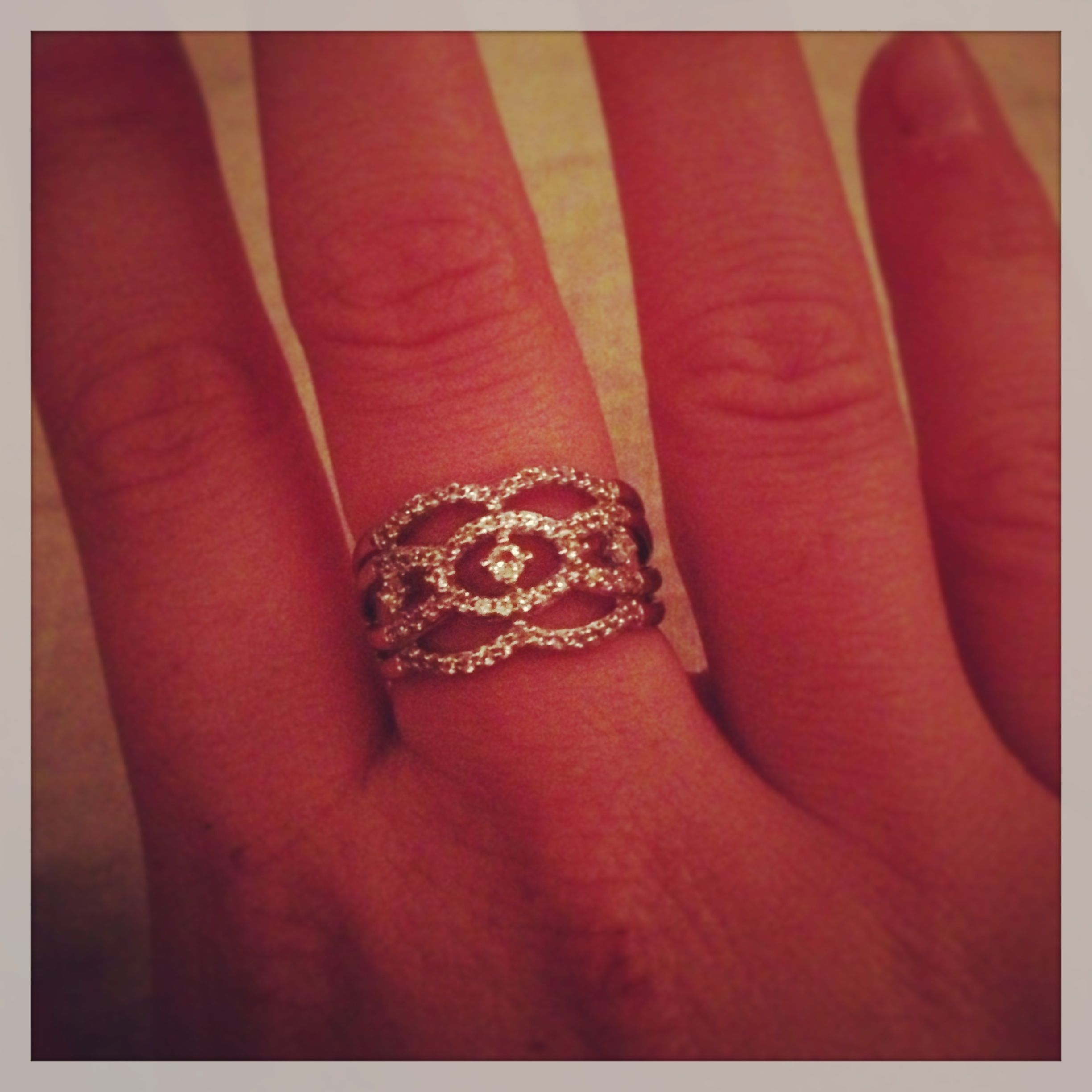 Right hand ring present for my birthday. Thank you love