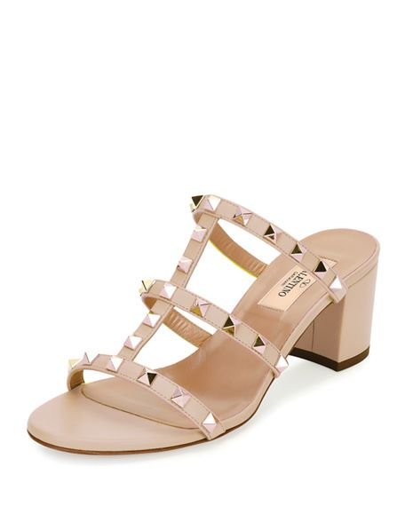 a85fcf8da0e VALENTINO Rockstud Caged 60Mm Slide Sandal. #valentino #shoes ...