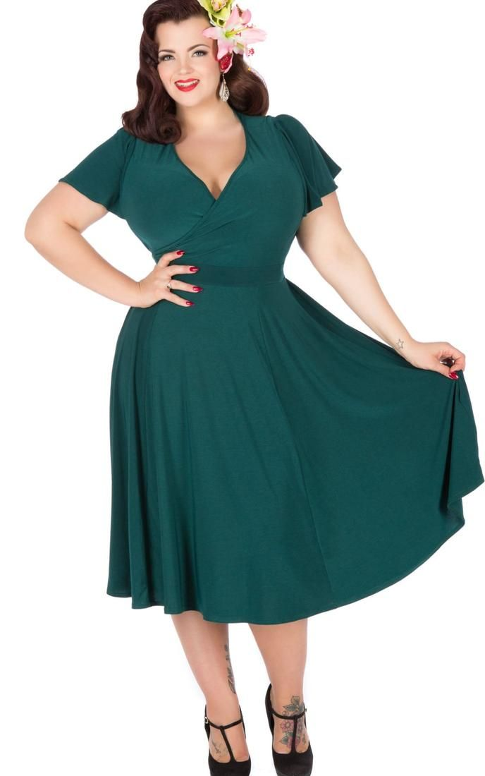 Vintage style dresses in plus sizes