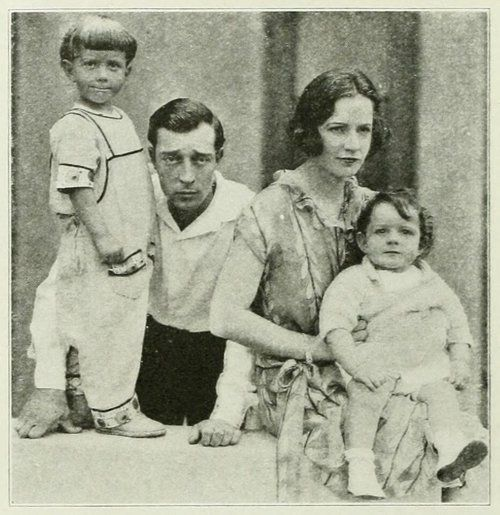 """Buster Keaton's oldest boy, Joe, was pestering his father with a lot of questions. Like most young children, he often has a bad attack of the """"whys,"""" the """"hows"""" and the """"wherefores."""" Buster was trying hard to read his evening paper under the barrage of questions. Finally, in desperation, he said to Joe: """"If you ask me another question, I'll go out and drown myself."""" """"Oh, papa, """" cried the eager Joe, """"can I go with you and see you do it?"""""""