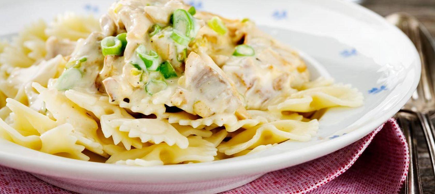 Pasta Med Italiensk Kyckling Recept Italiensk Kyckling Mat