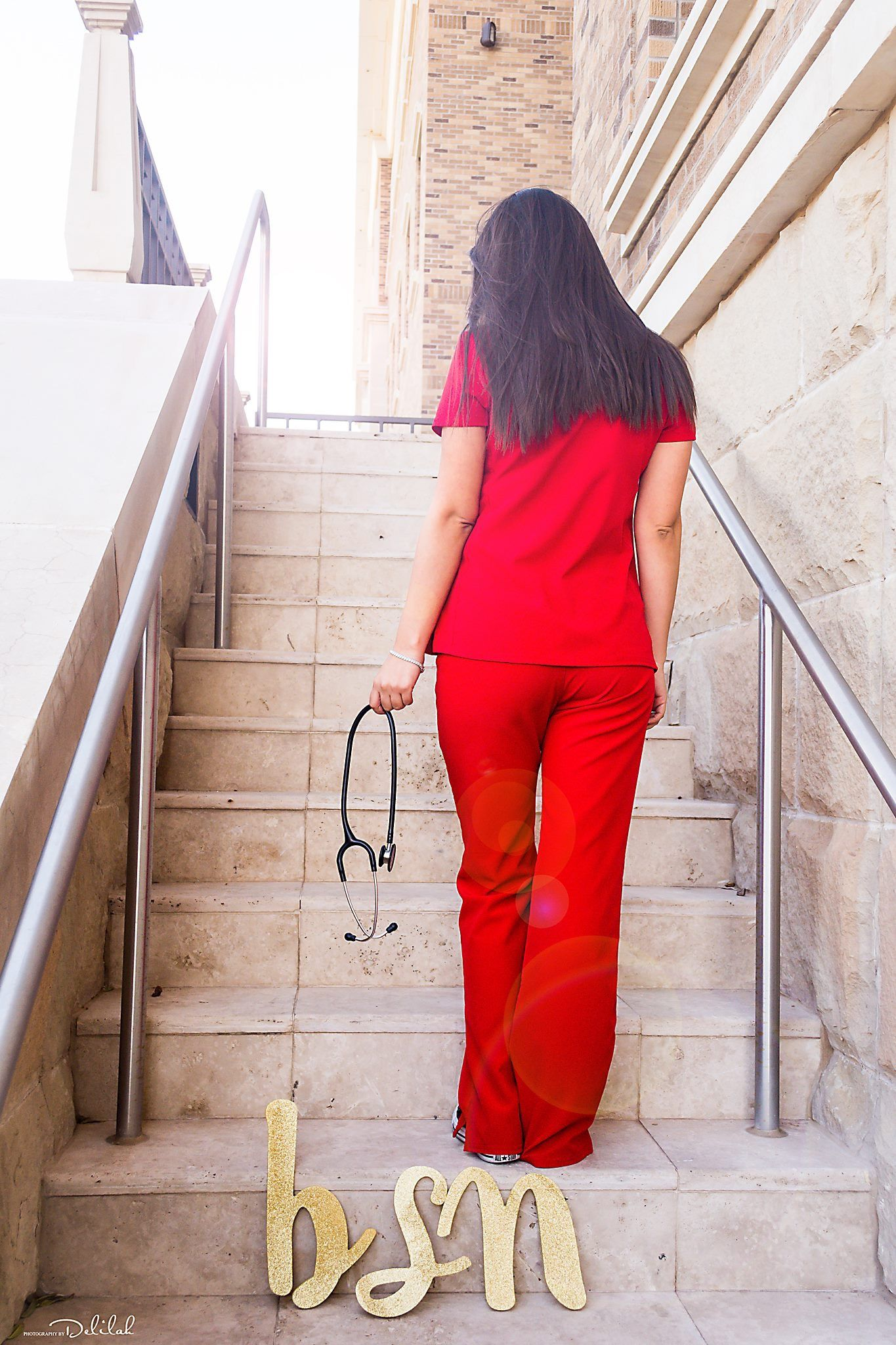 Texas Tech Nursing School Graduation Photoshoot Nurse