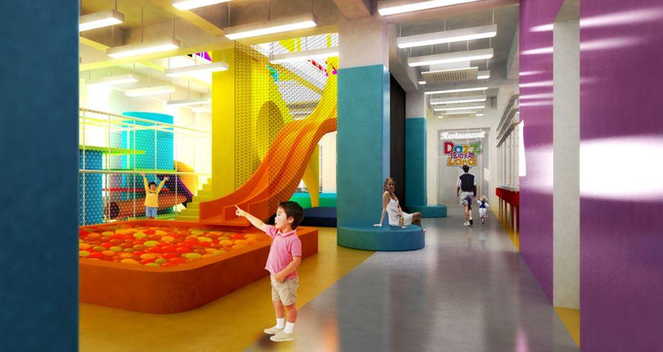 Projet playground : aire de jeux pour enfants architecture interieure shanghai chine atelierkaa architectes