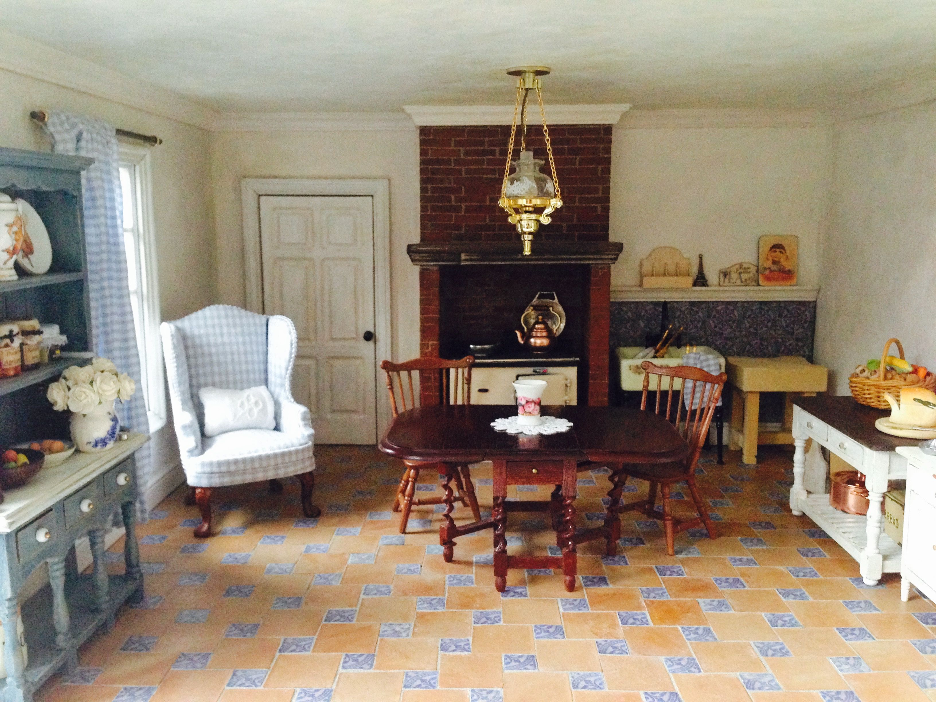 My miniature french country style dollhouse room