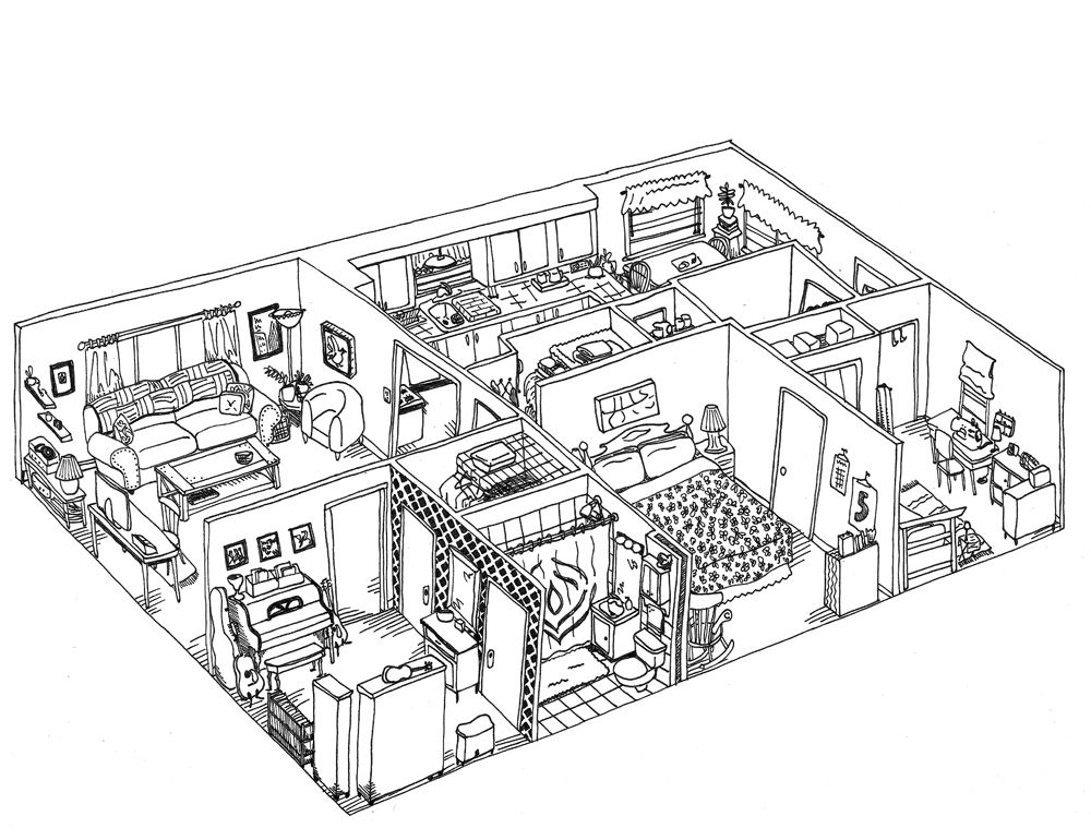 Image For Inside House Drawing