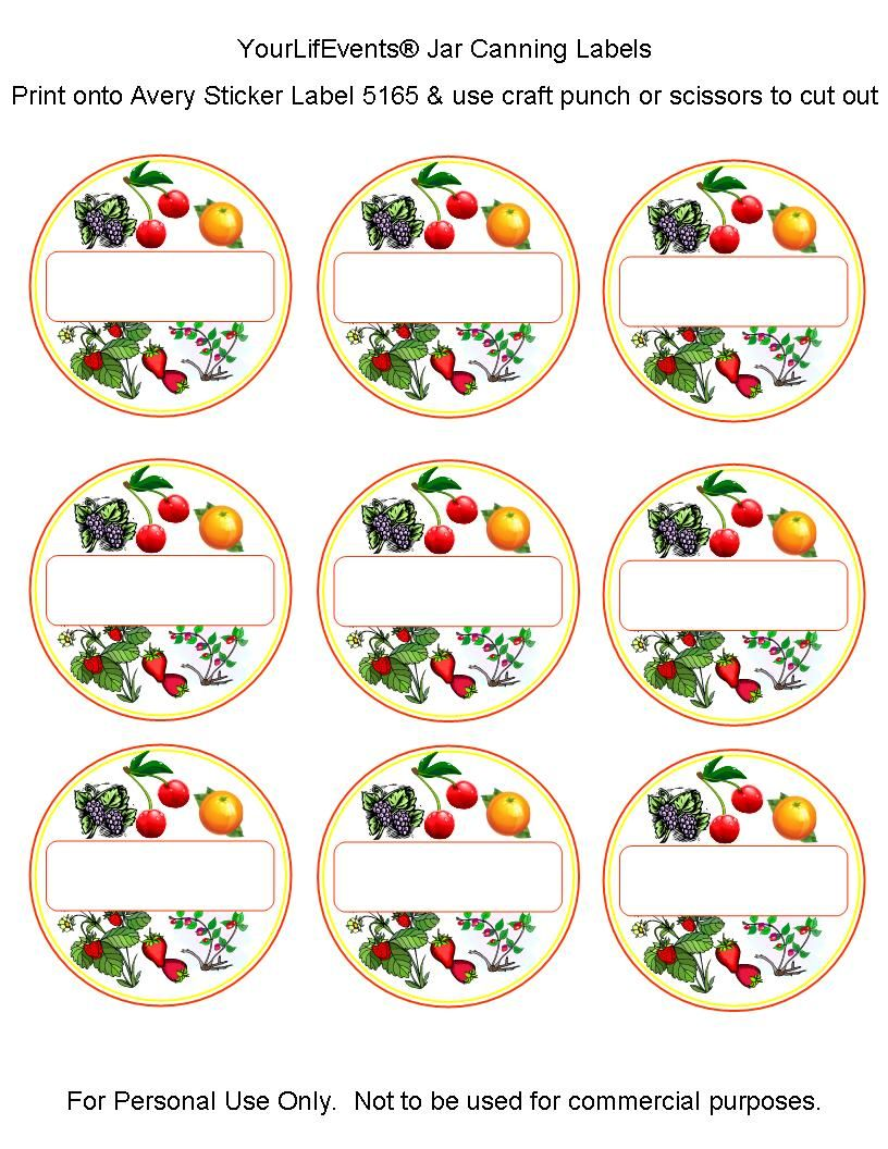 image about Free Printable Canning Labels known as canning labels Free of charge Printables Fruit Vege Jar Canning