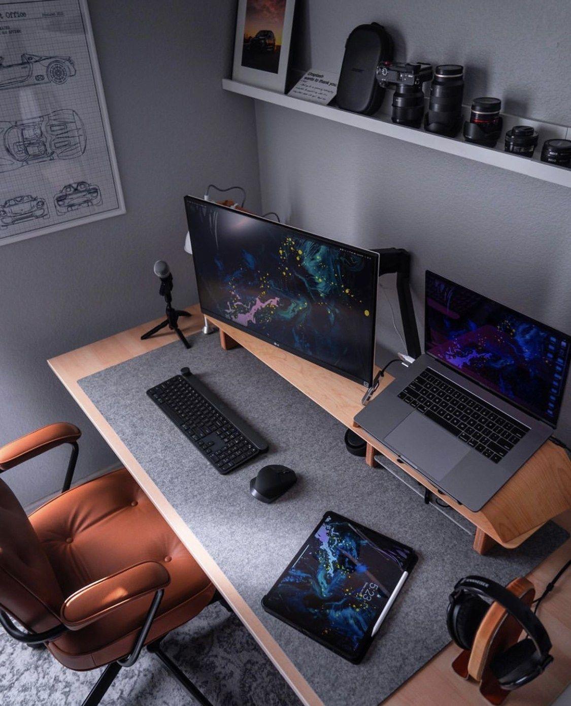 Setup Apple Macbook Pro One Pixel Unlimited Home Office Setup Home Office Design Office Setup