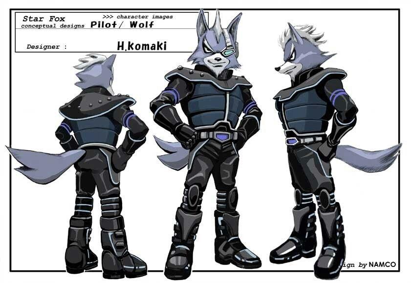 Wolf O Donnell Starfox Assault Concept Art Fox Mccloud