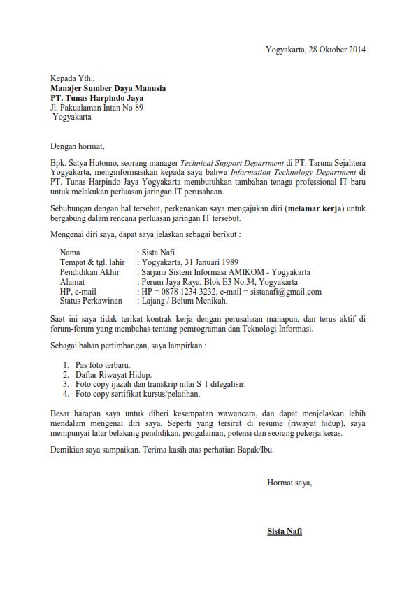 Surat Lamaran Kerja Rekomendasi Dari Teman Surat Kerja Pendidikan