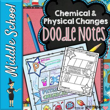 CHEMICAL & PHYSICAL CHANGE DOODLE NOTES, INTERACTIVE NOTEB