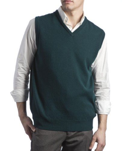 Great and British Knitwear Mens 100% Lambswool V-Neck Sweater Vest ...