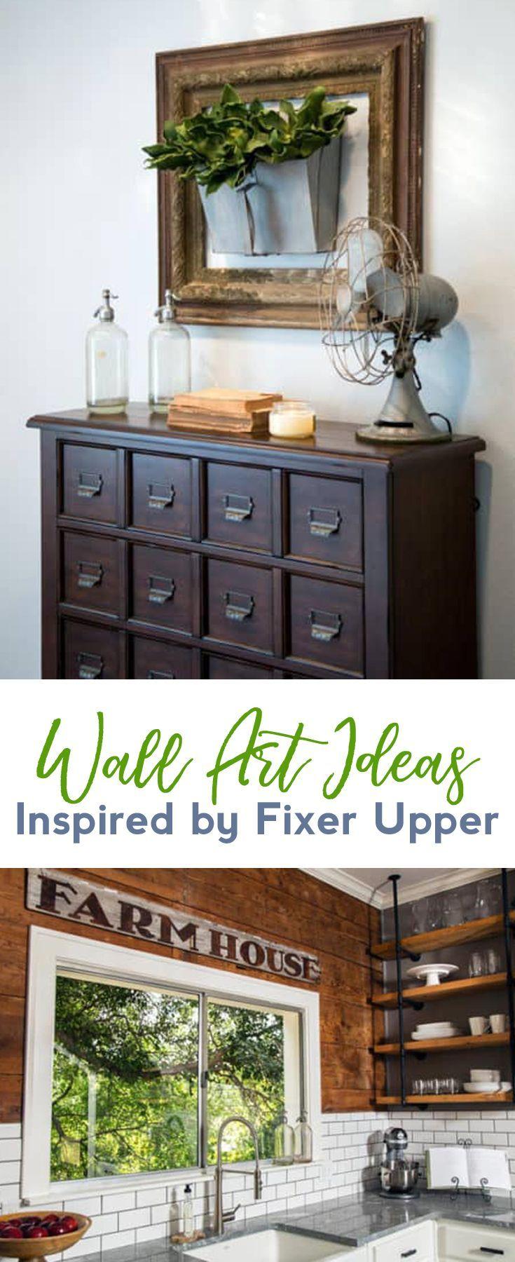 Farmhouse decor easy wall art ideas inspired by fixer upper