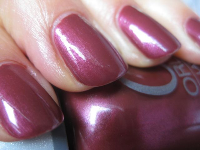Orly Merlot Mist; dupe of OPI Mother Road Rose? Close enough ...