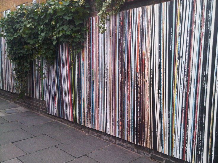 "awesome ""vinyl"" painted fence"