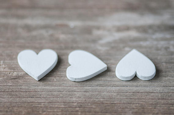 White Wooden Hearts Wedding Decor 2cm Rustic Craft Hearts Scrapbooking Heart Shapes Decorative Wood Wooden Hearts How To Make Wreaths Wedding Supplies