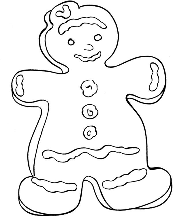 christmas cookies coloring page - Coloring Pages Christmas Stuff