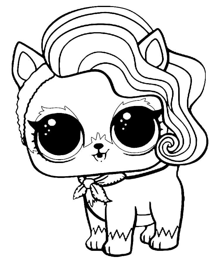 Lol Surprise Pets Coloring Pages Sur Fur Printables Pinterest