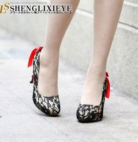 New Arrival Japan Bow High-heeled Shoes  No.GZAB605-1  Member Price: USD $19.87