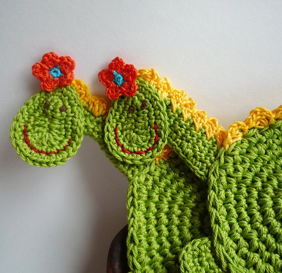 Crochet Coaster Pattern - Dragon Pattern - Crochet Dragon Pattern ...