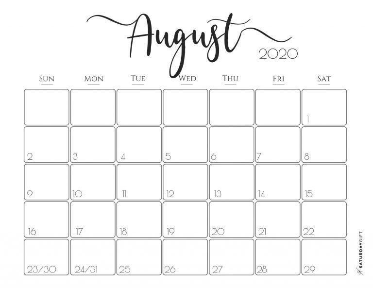 Elegant 2020 Calendar Free Printables Free Printable Calendar