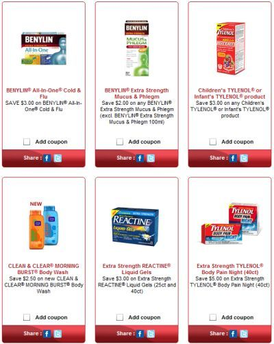 photograph regarding Nicorette Printable Coupon identified as No cost Printable Coupon codes for Benylin, Tylenol, Reactine
