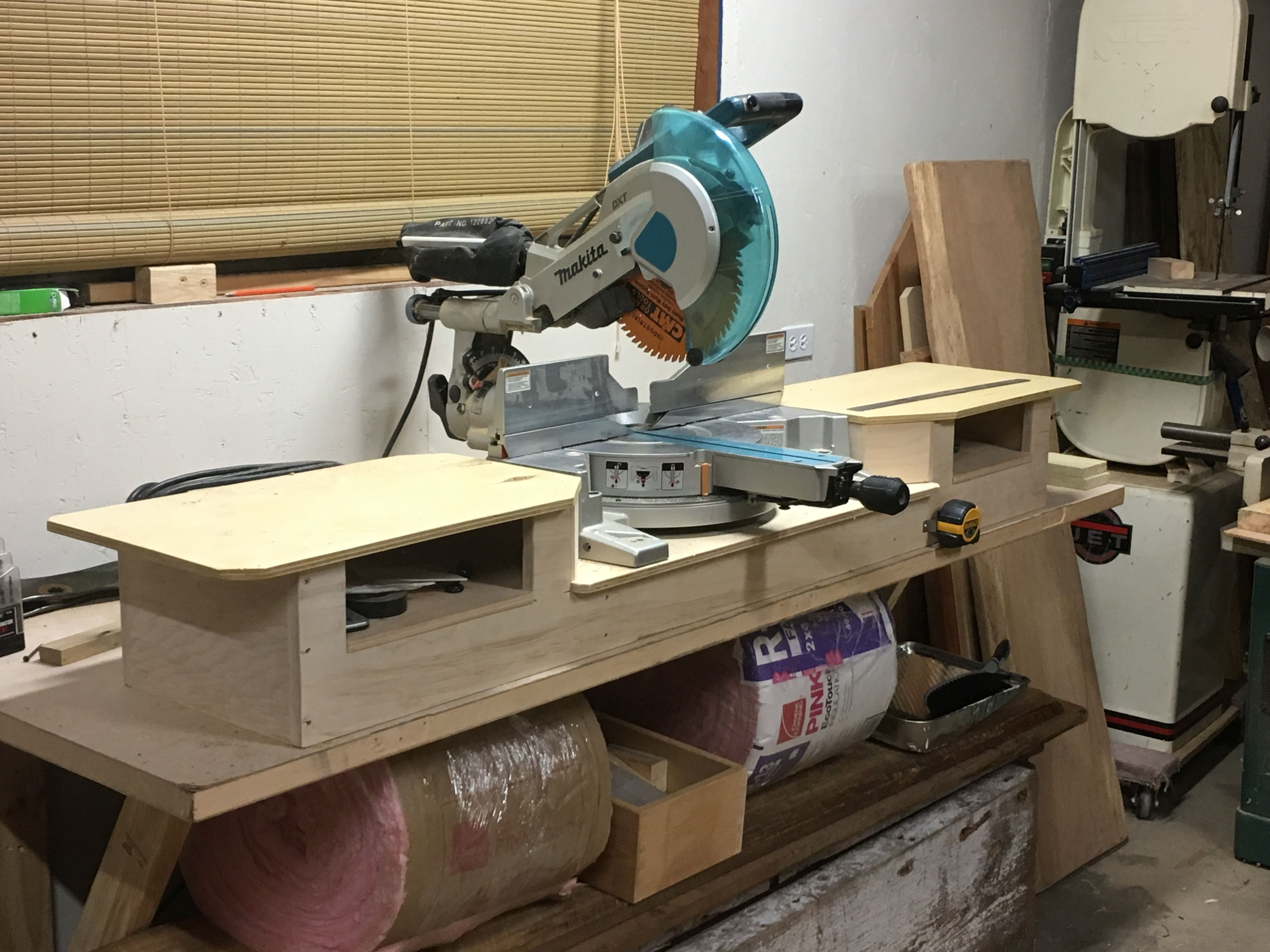 Make A Miter Saw Work Station Part 1 Thisiscarpentry Miter Saw Woodworking Mitered