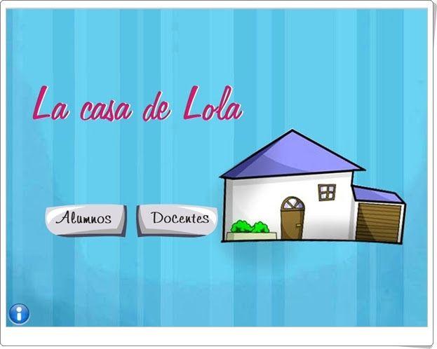 """""""La casa de Lola"""" es una aplicación de Educarex en la que el alumno interactúa, tras la exposición sobre la casa, sus partes, elementos, utensilios y tareas del hogar, en juegos en los que se afianza el conocimiento del tema."""