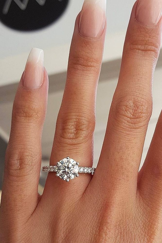 carat white for ready engagement a diamond gold rings in cut circle pave round roudn center half ring hand products set halo with
