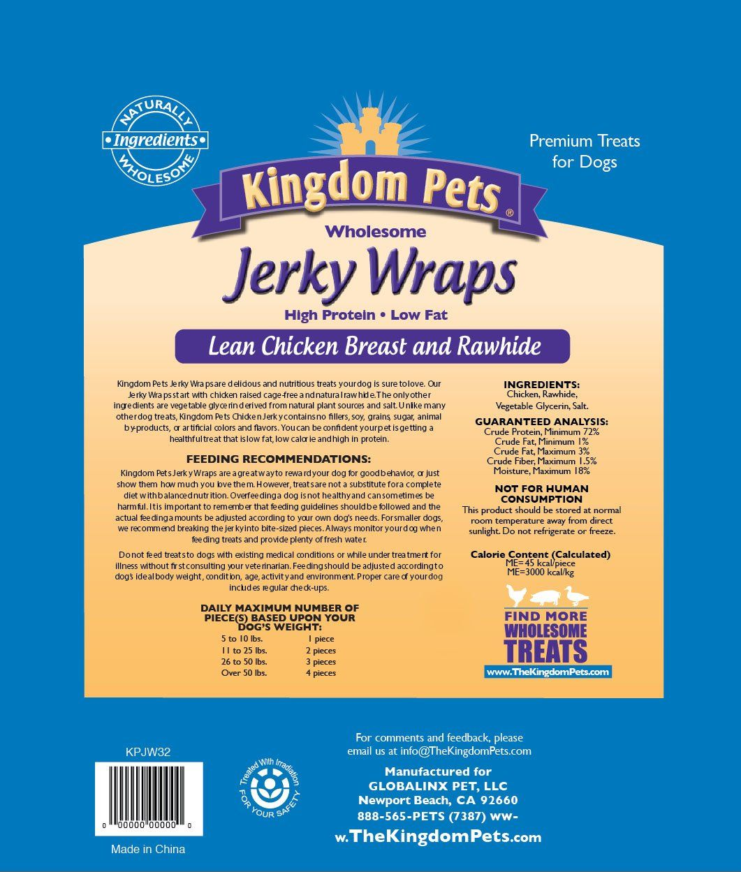 Kingdom Pets Chicken and Rawhide Jerky Wraps, Ad Chicken