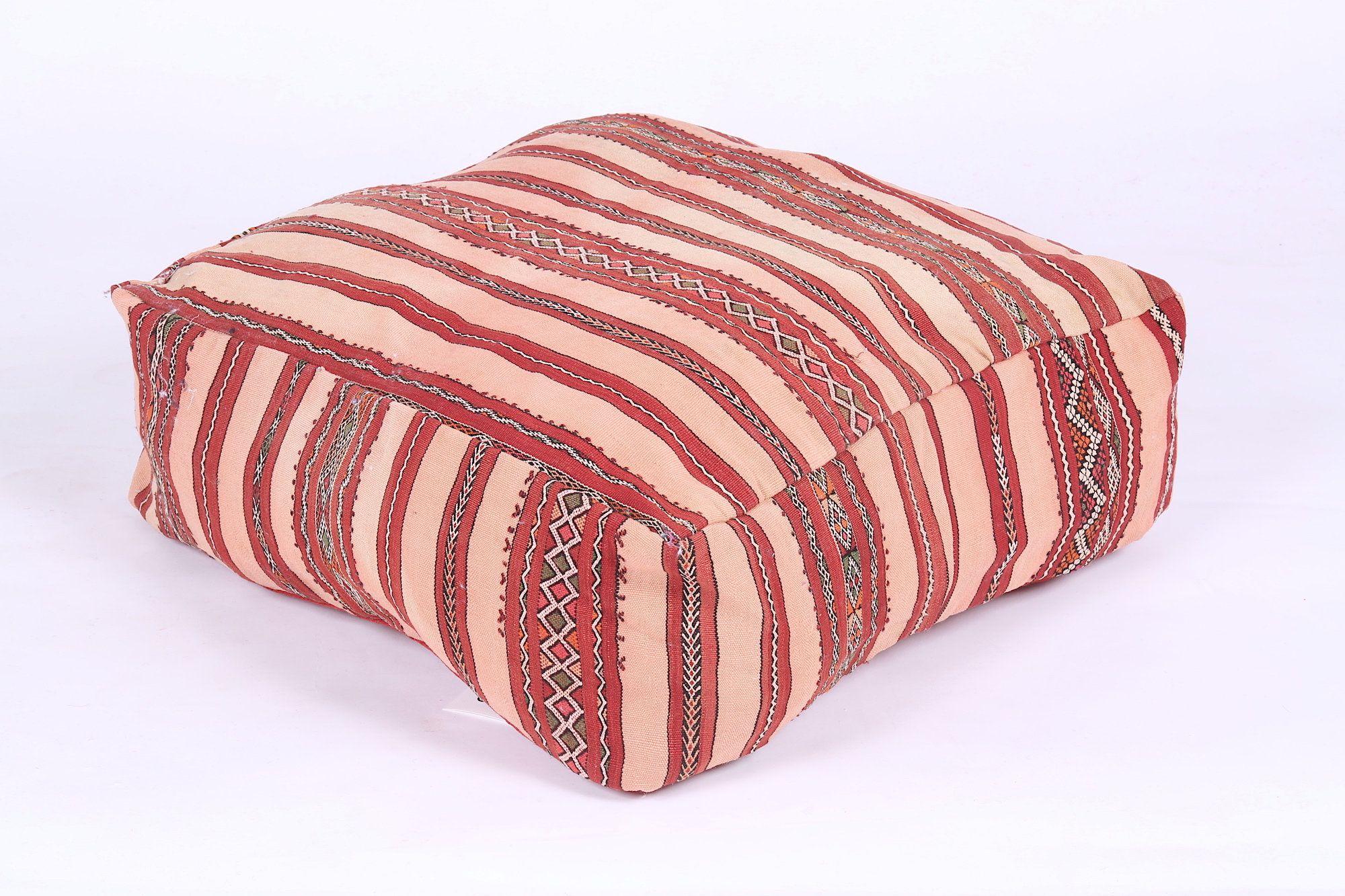 Woven-Moroccan Berber Pouf