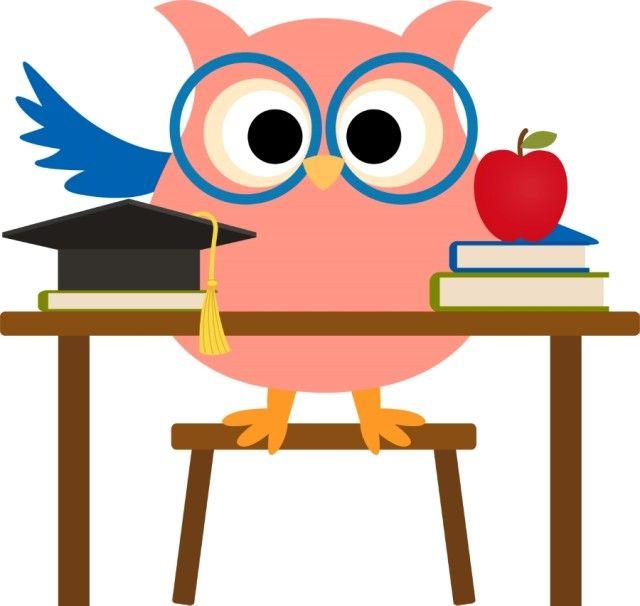 owl teacher clipart 101 clip art buhos y pajaros pinterest rh pinterest com Owl School Clip Art Owl Education Clip Art
