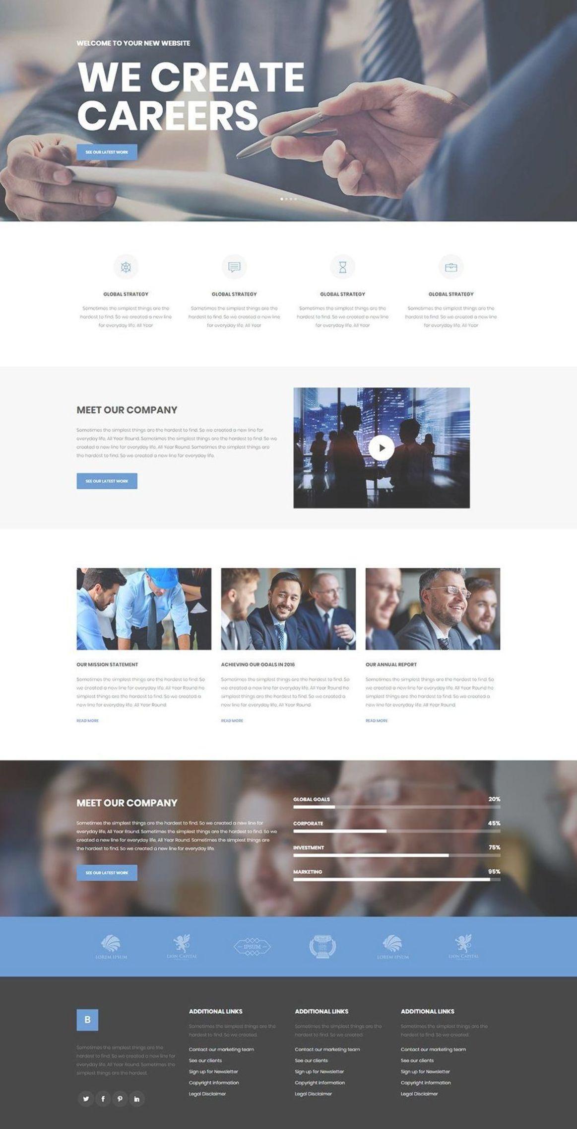 Make A Stellar Corporation Website With Bridge Wordpress Theme Wordpress Theme Design Lay Corporate Web Design Web Layout Design Corporate Website Design