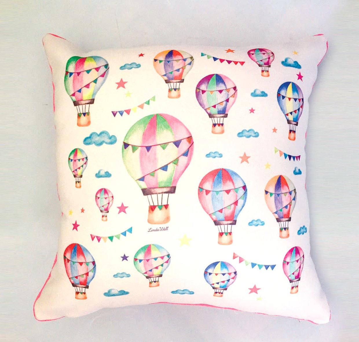 Hot Air Balloons Nursery Bedding Balloon Pillow Case Decor Kids Decoration Baby Shower Gift By