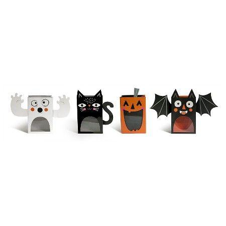 Halloween Eek Ghost/Cat/Bat/Pumpkin Treat Bags 4ct - Spritz