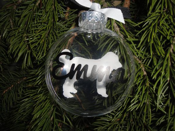 Personalized Labradoodle ornament from TheKalicoKitty on Etsy.