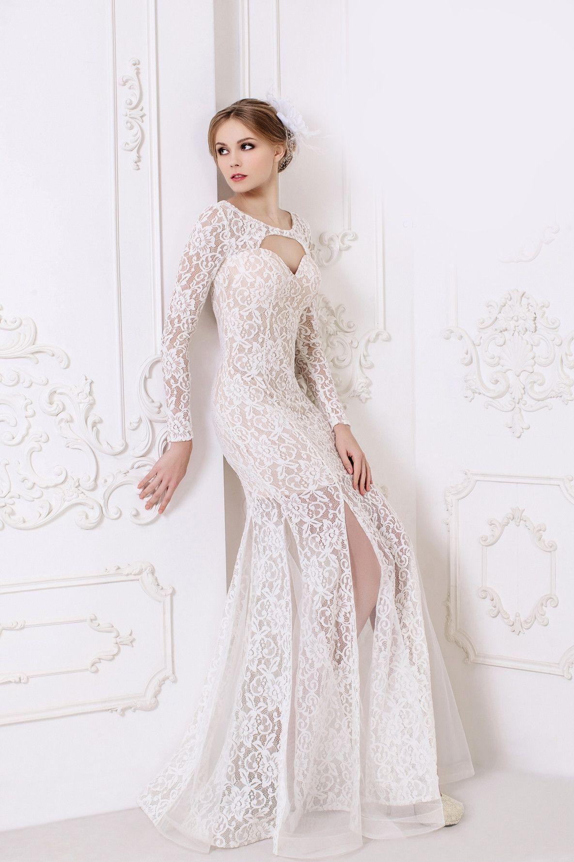 Kleo long lace wedding dress pinterest simple long dress