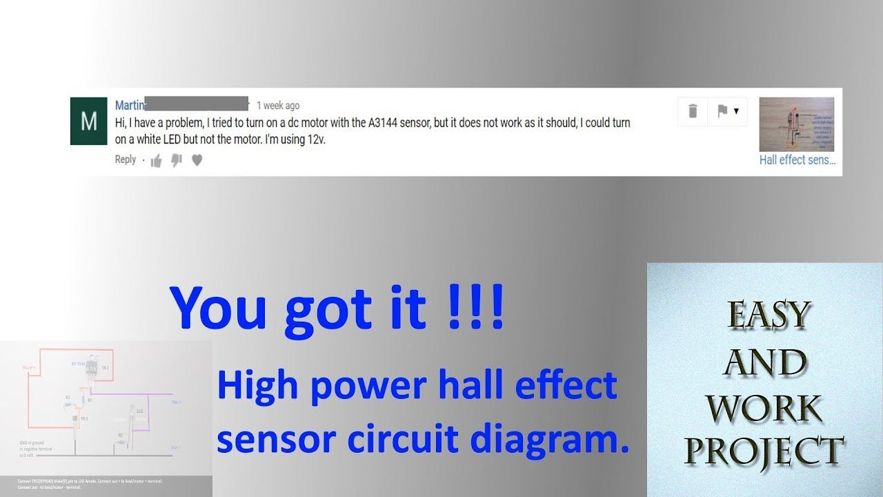 High Power Hall Effect Sensor Circuit Diagram Http Www Wiring