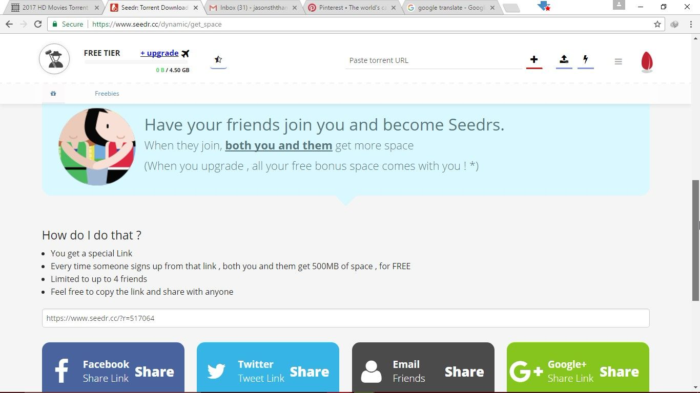 Download Torrents to the Cloud - Seedr | /www seedr cc