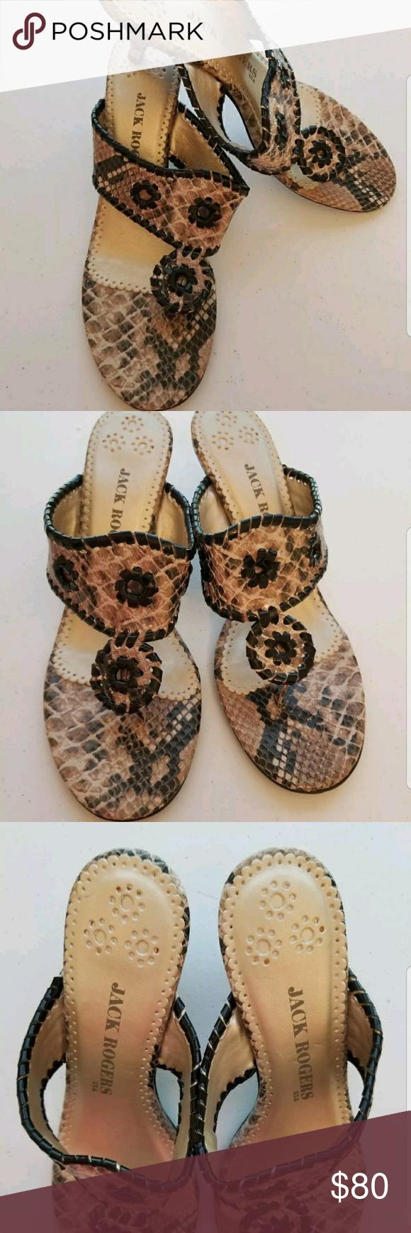 Jack Rogers Python Kitten Heel Excellent Jack Rogers Marina Heels Cream Tan Colored Python Style Print Kitten Heel With Jack Rogers Shoes Kitten Heels Heels
