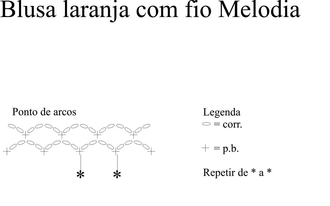 BLUSA LARANJA DE CROCHE COM FIO MELODIA Material: 4 novelos de Melodia na cor laranja (2814); Ag. para crochê Círculo nº 3,5mm. Tamanho: p...