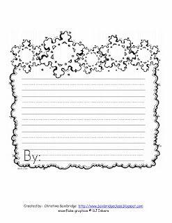 snow writing paper  Inverno papel flocos