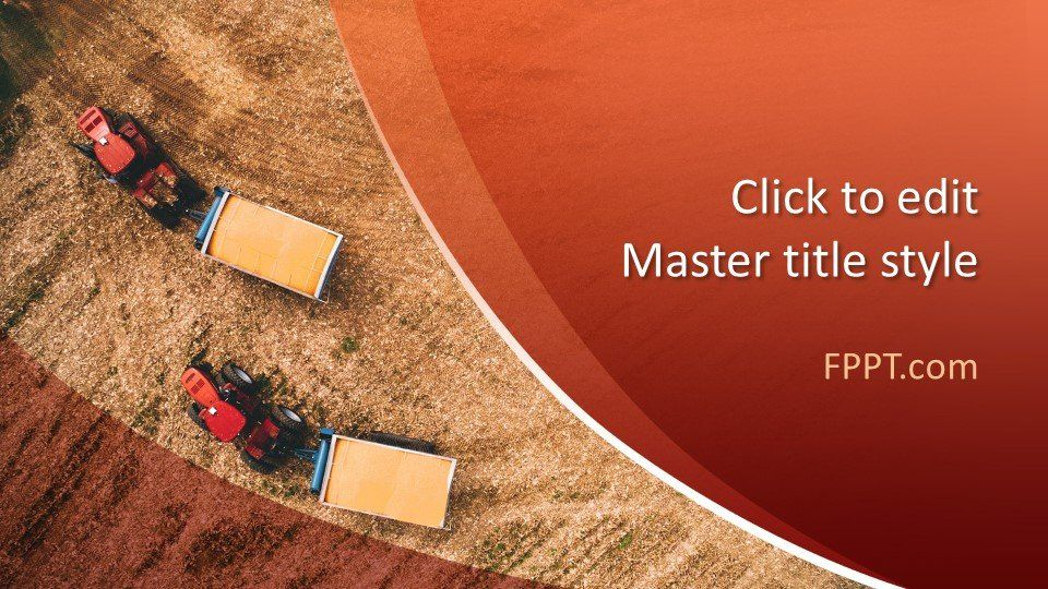 Free Harvest Technology Powerpoint Template Powerpoint Template Free Powerpoint Slide Designs Powerpoint Templates