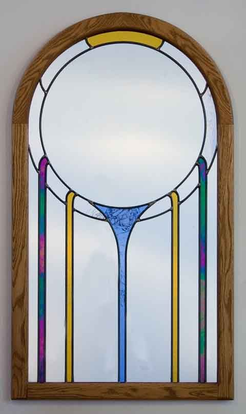 Artwork Stained Glass Mirror Art Deco Mirror Stained Glass
