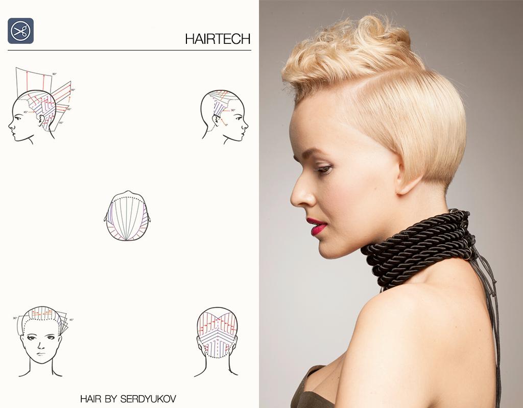 Haircut And Cutting Technique Head Sheet By Serdyukov