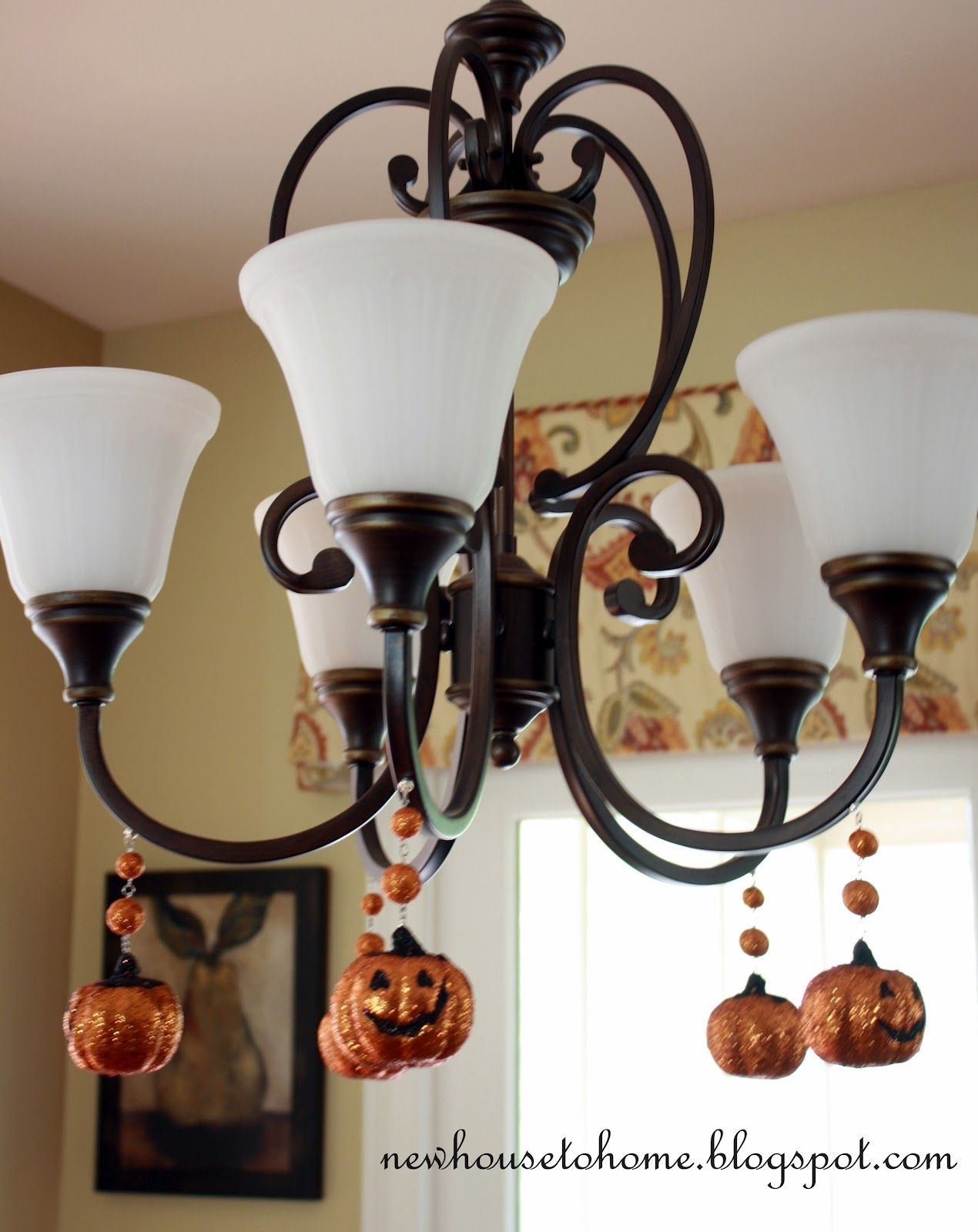 From New House To Home Great Chandelier Idea For Halloween Knock Off Decor Fall Halloween Decor Fall Decor