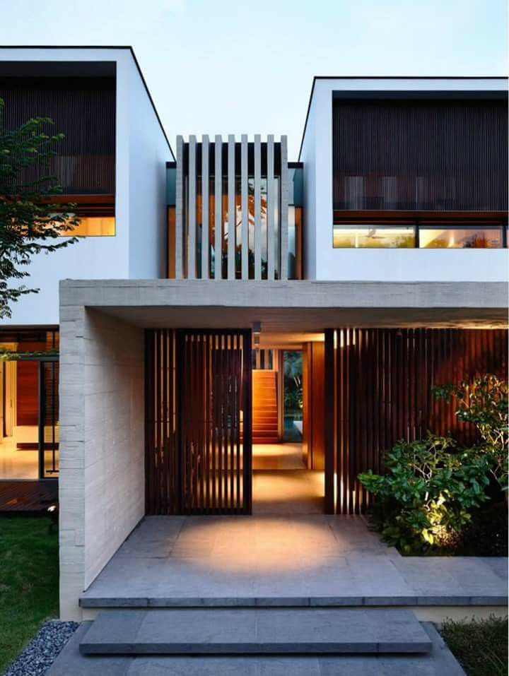 Ingreso arquitectura pinterest fachadas for Ingreso casas modernas