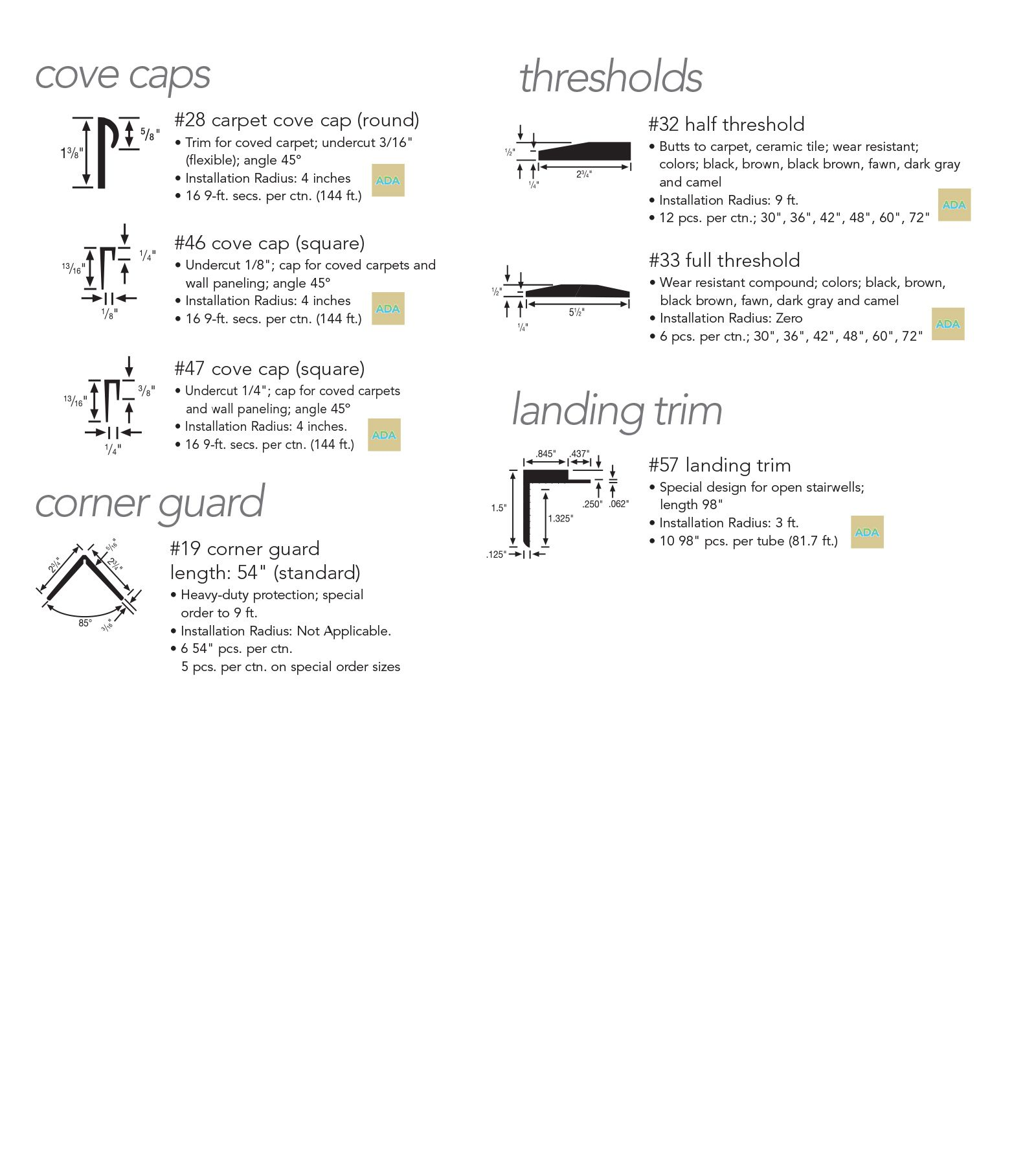 Image Result For Ada Transiton Striip Over Trim Detail Trim Detailed Drawings
