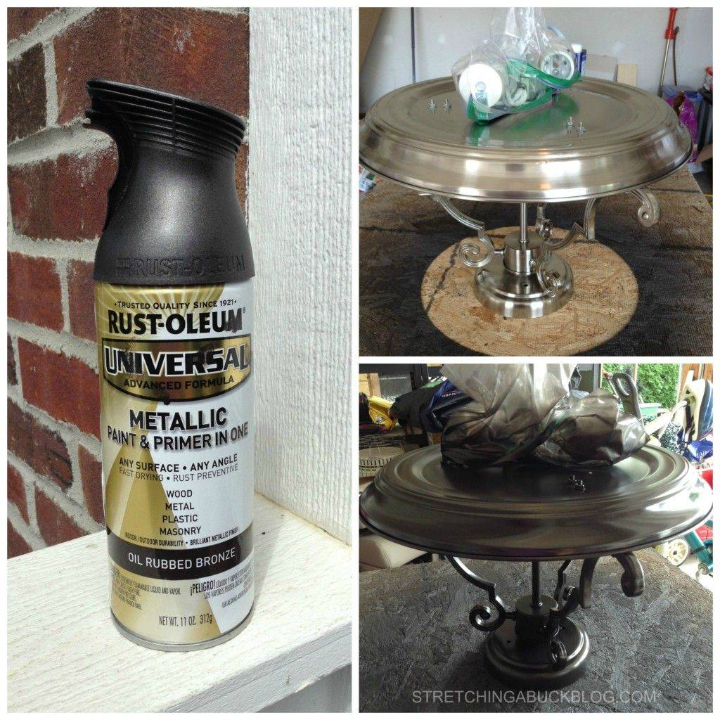 How To Paint Your Light Fixtures With Spray Paint