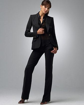 Dolce Gabbana Pin Stripe Suit Womens. Power Suit | Attire ...