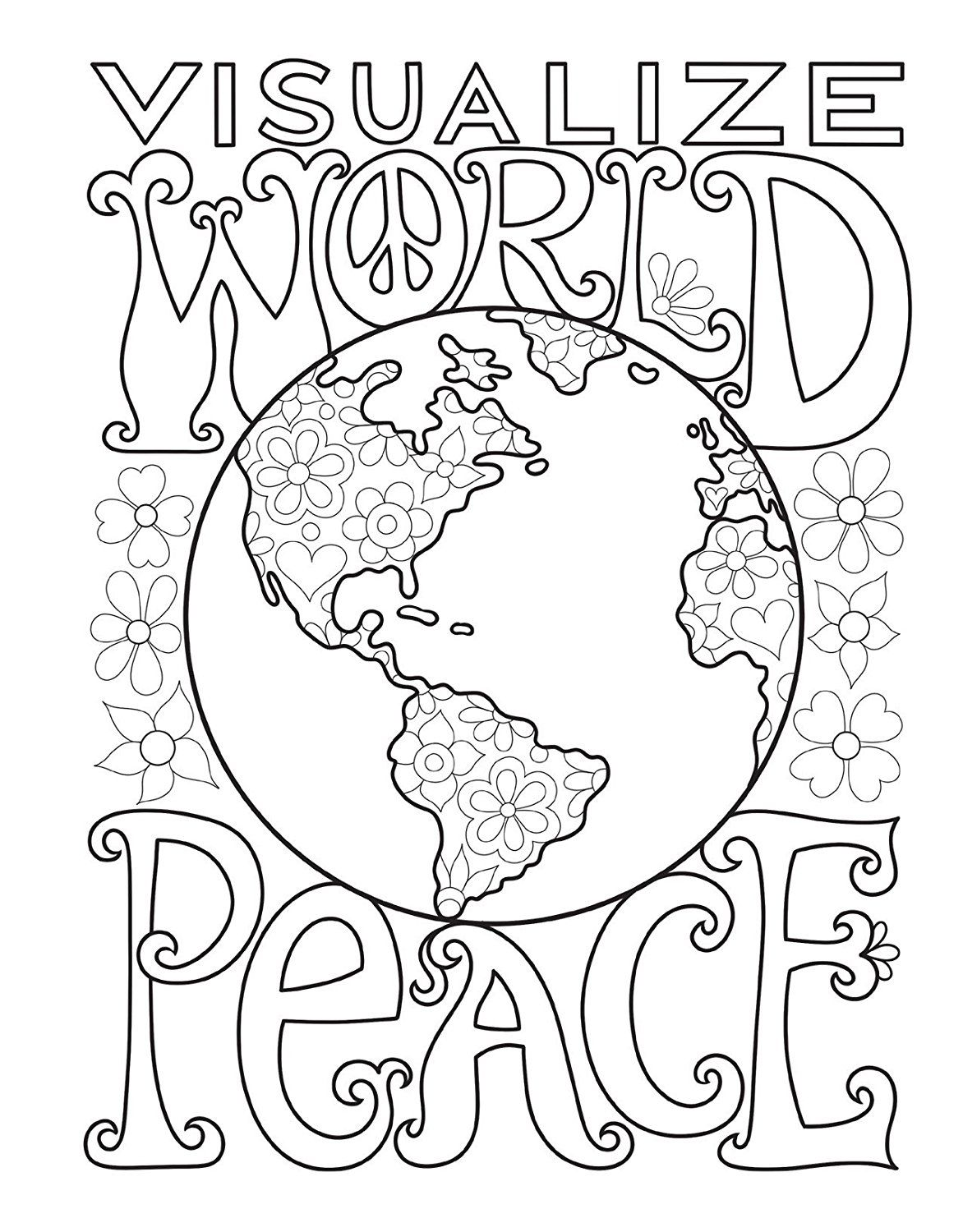 Peace Love Coloring Book Thaneeya Mcardle 9781574219630 Books Amazon Ca Coloring Books Coloring Pages Pattern Coloring Pages